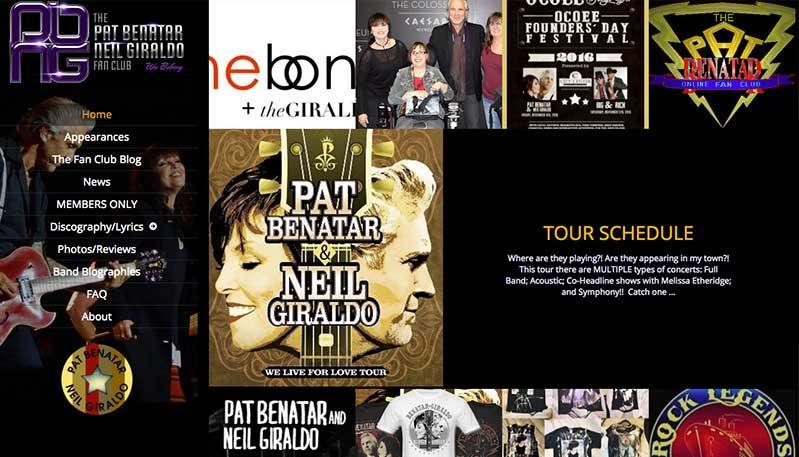 Pat Benatar/Neil Giraldo Fan Club
